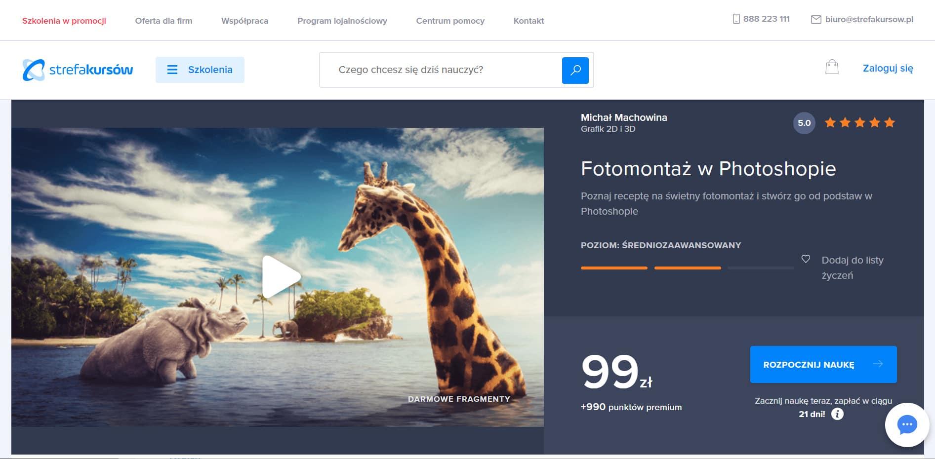 Strefa Kursów - fotomontaż w Photoshopie